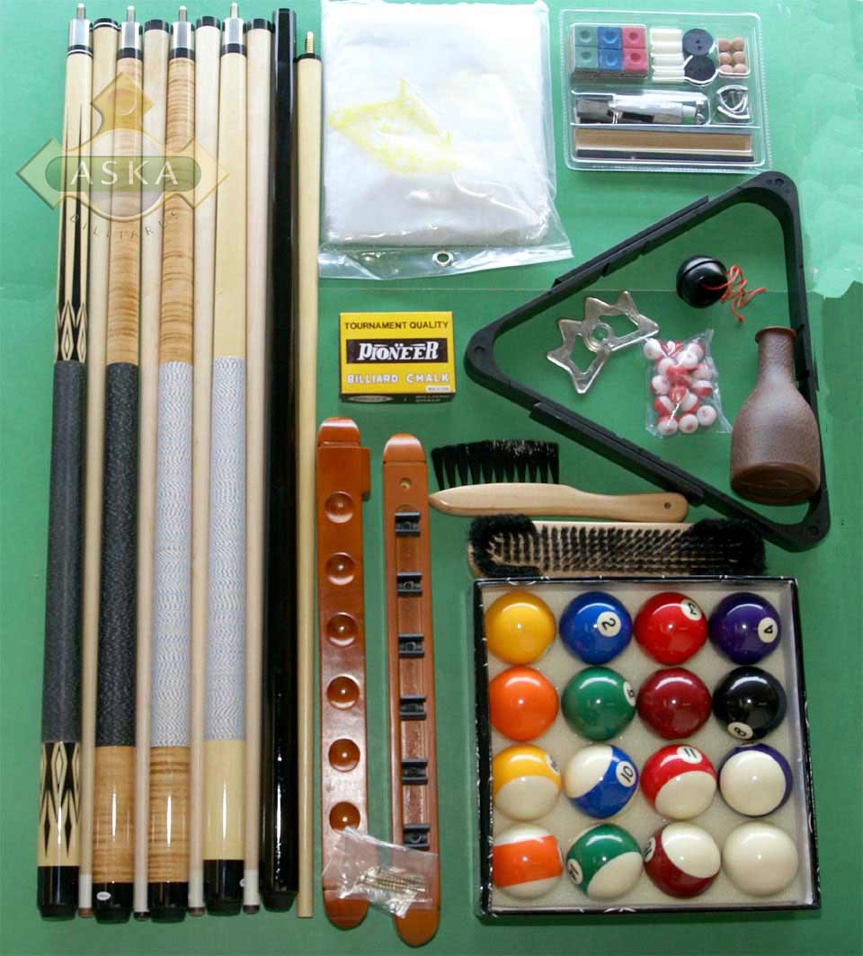 Deluxe pool billiard table accessories kit with balls - Billiard table accessories ...