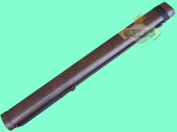 C11P02, Aska pool 1 butt 1 shaft hard cue case, Light Brown