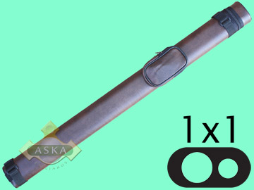 C11P05, Aska pool 1 butt 1 shaft hard cue case, Light Brown