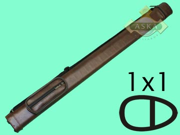 C11S02, Aska pool 1 butt 1 shaft hard cue case, Light Brown