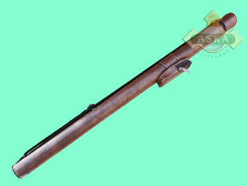 C11S05, Aska pool 1 butt 1 shaft hard cue case, Light Brown