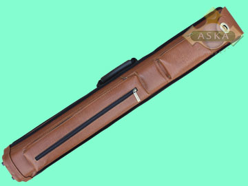 C24A01, Aska pool 2 butts 4 shafts hard cue case, Brown