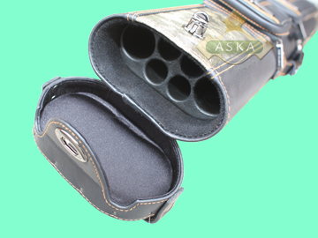 C24P16, Aska pool 2 butts 4 shafts hard cue case, Black, Stand
