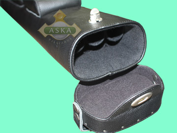 C35M01, Aska pool 3 butts 5 shafts hard cue case, Black