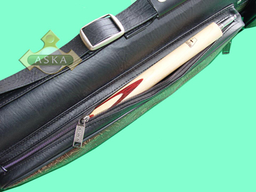 C464, Aska pool 4 butt 6 shaft hard cue case, combo