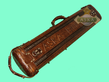 Hand Made Leather Pool Cue Case 3 Butt 6 Shaft Brown