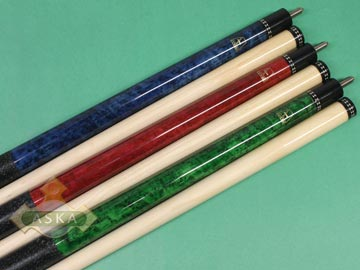 Aska L19 3 pool cue sticks