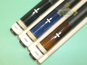 Aska L21 3 pool cue sticks
