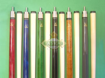 Aska billiard pool cue stick Aska L3000 6 color cues set