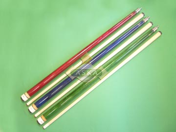 Aska billiard pool cue stick Aska L3000 3 cues set (Red, Blue, Green)