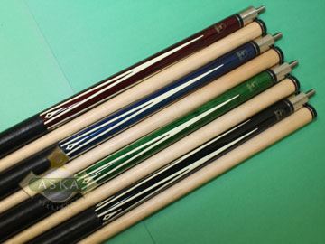 Aska L8 4 pool cue sticks