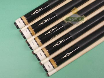 Aska L8 Black 5 pool cue sticks