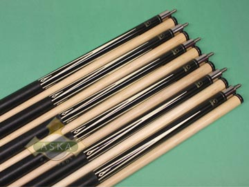 Aska L8 Black 6 pool cue sticks