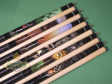 Aska Wildlife WL2 6 pool cue sticks set