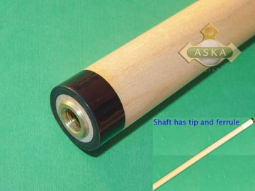 Aska 13mm 5/16*14 hard rock maple shaft black collar