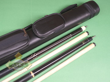 Billiard pool cue Falcon Black 4 with Pool Cue Case 2x2, Jump Break Cue