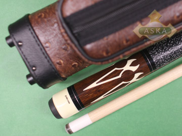 Billiard pool cue Falcon CO3 with Pool Cue Case 2x2, Jump Break Cue