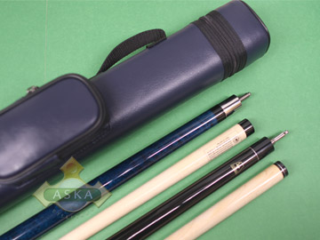 Billiard pool cue Set Falcon NF1 Blue + Blue Case 2x2 + Jump Break