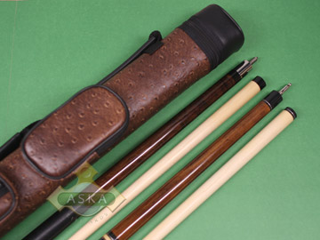 Billiard pool cue Set Falcon NF1 Brown + Brown Case 2x2 + Jump Break