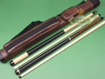 Billiard pool cue Set Falcon NF1 Natural + Brown Case 2x2 + Jump Break