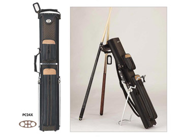 Pro Series 2B/4S Hard Cue Case, Black & Brown