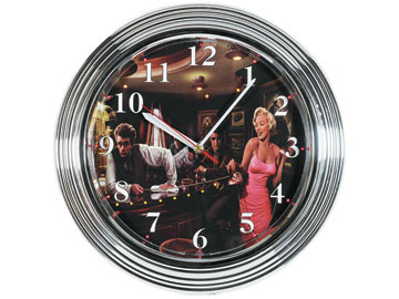 Decor, Tiffany, billiard lighting. Led clock LCK-1