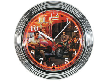 Decor, Tiffany, billiard lighting. Neon Clock NCK-7