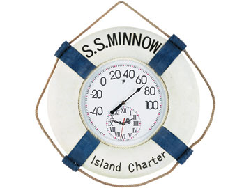 Decor, Tiffany, billiard lighting. Thermometer/Clock ODR292