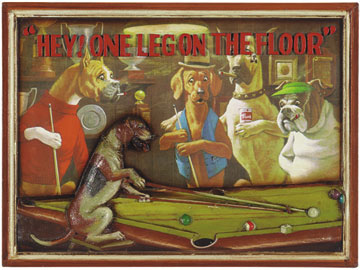 Decor, Tiffany, billiard lighting. Wall Art R327