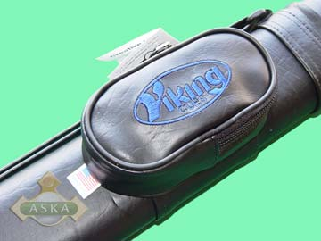 VC11 black, Viking pool 1 butt 1 shaft hard cue case, black