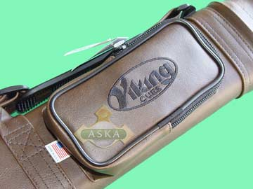 VC12 brown, Viking pool 1 butt 2 shaft hard cue case, brown